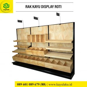 Rak Kayu Display Roti